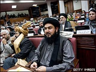 Parlamento afegão durante votação