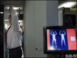 Scanner em aeroporto