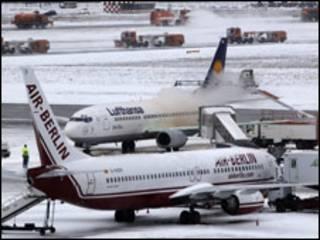 літаки у Франкфурті, 9 січня