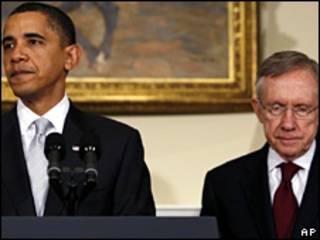 Harry Reid e Barack Obama (arquivo)