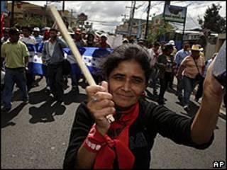 Manifestación en Honduras.