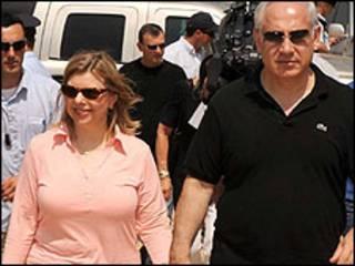 Binyamin Netanyahu e a esposa, Sarah