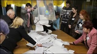 Подсчет бюллетеней на Украине