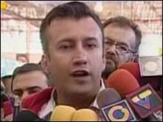 O ministro de Interior e Justiça da Venezuela, Tareck El Aissami.