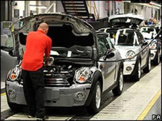 Fábrica de automóveis na Grã-Bretanha