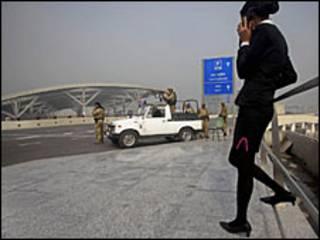 नई दिल्ली के विमानतल पर सुरक्षा इंतज़ाम