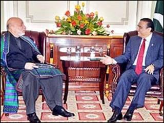 हामिद करज़ई और आसिफ़ अली ज़रदारी