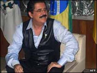 O ex-presidente de Honduras Manuel Zelaya