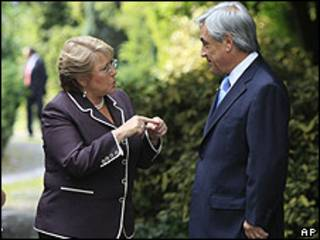 Bachelet y Piñera