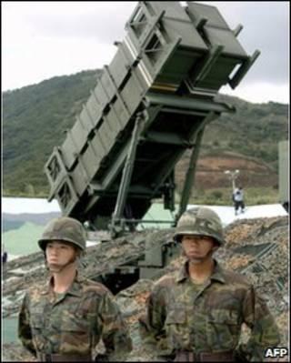 Bệ phóng tên lửa Patriot ở Đài Loan