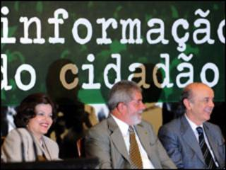 Dilma Rousseff, Lula e José Serra (arquivo; Foto Rooseweld Pinheiro/ABr)