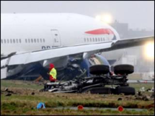 """Жесткая посадка """"Боинга-777"""" в Хитроу"""