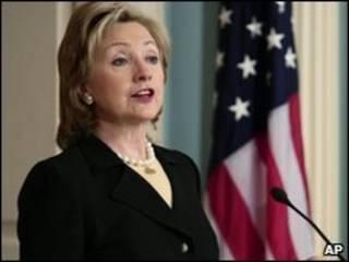 A secretária de Estado americana, Hillary Clitnon