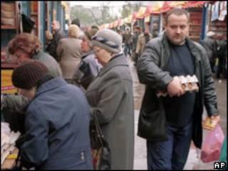 Рынок на улице в Москве