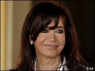 A presidente da Argentina, Cristina Kirchner (foto de arquivo)