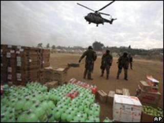 Ajuda humanitária no Chile