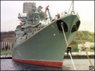 Российский противолодочный корабль в Севастополе