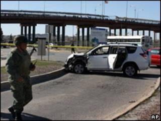 Escena del crímen en Ciudad Juárez