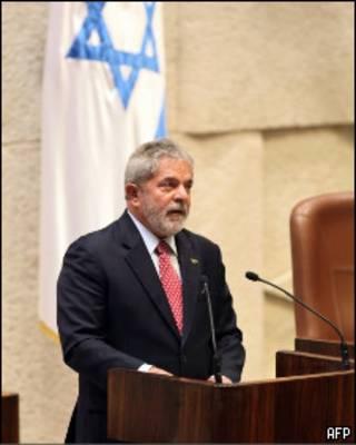 Lula discursa no parlamento israelense (AFP/Getty Images/Jim Hollander)