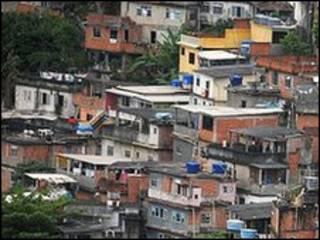 Favela de Babilônia no Rio de Janeiro