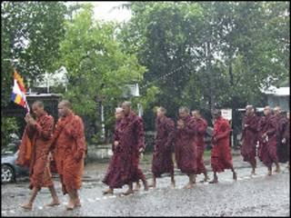 monks protests