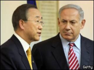 Нетаньяху и Пан Ги Мун