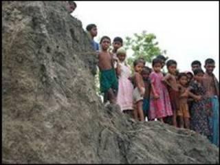 Moradores da região do Golfo de Bengala observam erosão (arquivo)