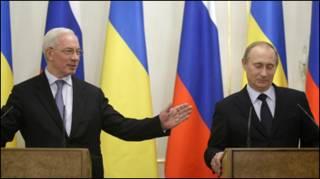 На обличчях прем'єрів посмішки. Чи не зіпсує настрій Путіну остання заява Азарова?