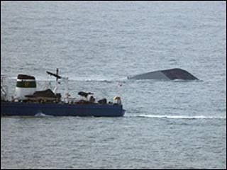 Место гибели южнокорейского корабля