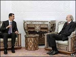 ولید جنبلاط و بشار اسد