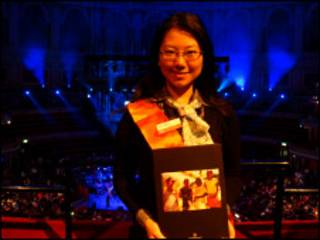 zhaomeng at charity concert for haiti earthquake