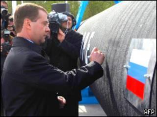 Медведев в Выборге