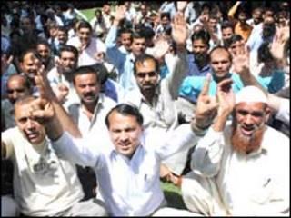 ہندوستان میں ملازمین کی ہڑتال کی ایک فائل فوٹو