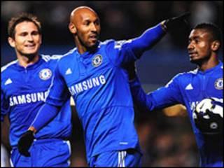 Wachezaji wa Chelsea.