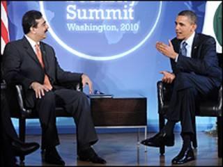 صدر اوباما اور وزیراعظم گیلانی