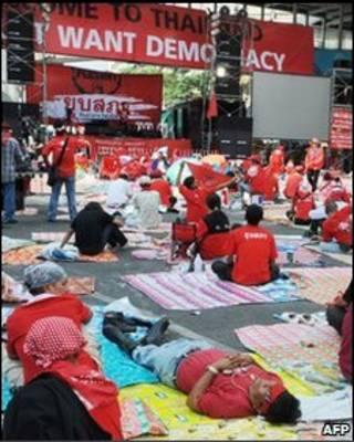 تھائی لینڈ میں مظاہرے کی تصویر