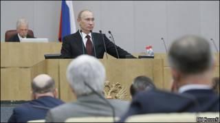 Владимир Путин в Думе
