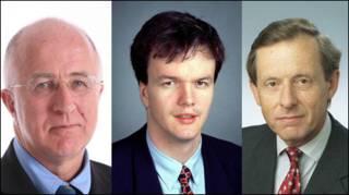 Слева направо: Денис Макшейн, Майкл Мур и Ричард Спринг