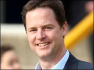 Nick Clegg, kiongozi wa chama cha Liberal Democrats