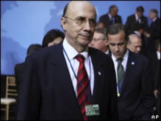 O presidente do Banco Central, Henrique Meirelles, durante encontro do G20 na última sexta-feira (AP)