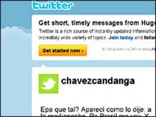 Страничка Уго Чавеса на Twitter