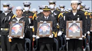 Lễ tang cho thủy thủ Nam Hàn