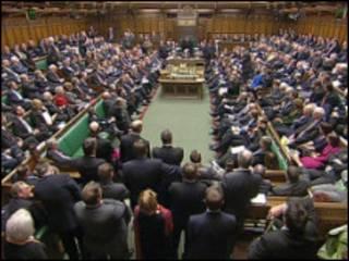 英国下议院开会
