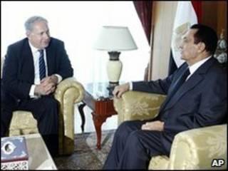 رهبران اسرائیل و مصر