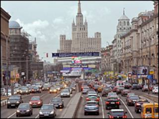 Пробка на дороге Москвы