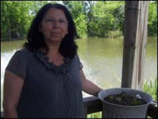 La jefa de la tribu de los Houma, Brenda Dardar