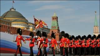 Гвардейцы на Красной площади