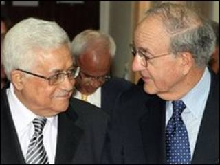 Mahmoud Abbas e George Mitchell