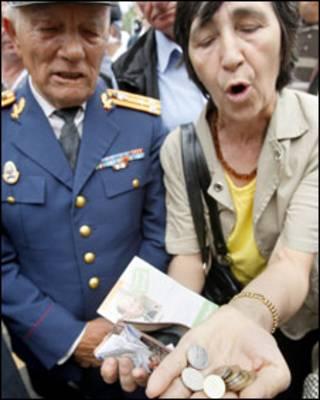 пенсіонери протестують у Бухаресті