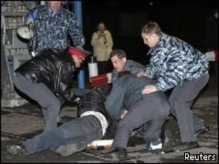 Столкновения в Междуреченске